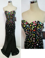 NWT NIGHT MOVES $490 Black Pageant Formal Prom Gown 2