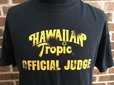 HAWAIIAN TROPIC Bikini Contest Official Judge T-shirt Shirt Beach Sun Tan Lotion