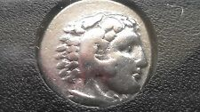 Alexander the Great of Macedon (336 - 323 BC) Silver Drachm AR 18mm approx 4gr