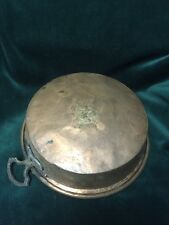 Early Copper Pan w/2 Decorative Handles ~  Old Repairs ~Old and  Original - BC11