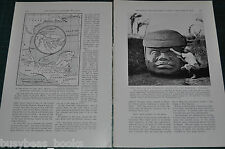 1939 magazine article about MAYAN relics, excavations Mexico archeology