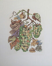 """Dorothy Lundquist Embossed """" Grapes for Wine"""" on Vine Etching S/N Artist Proof"""