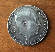 ADOLF HITLER CHALLENGE NAZI GERMAN COIN 1938 THIRD REICH WW2