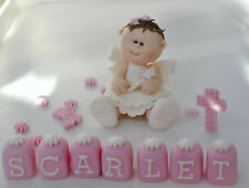 HANDMADE EDIBLE BABY  FAIRY GIRL CHRISTENING BIRTHDAY CAKE TOPPER  DECORATION