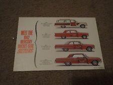 NOS 1962 MERCURY COMET METEOR MONTEREY BUCKET SEAT SIZZLERS DEALER POSTCARD