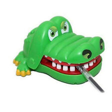 Cute Best Gift Green Crocodile Mouth Dentist Bite Finger Game Funny Toy for Kids