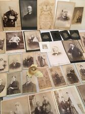 Large Lot Of Antique Photographs, Includes Tin Type Civil War Era, 36 Photos