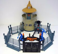 JURASSIC PARK COMMAND COMPOUND Vintage Kenner Figure Playset NEAR COMPLETE 1993