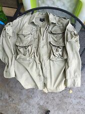 Willis Geiger Vintage Bush Poplin Hunting Safari Camera Jacket Size M EUC