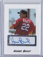 2004 Just Minors Autograph Rookie Homer Bailey