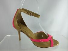 $325 New Tory Burch Lois Iced Coffee/fluo Pink Womens Shoes 5 M