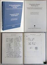 Schmückler Breloer -gramática Russica Hamburgensis 2001 Eslava Filología xz