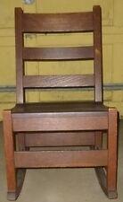 Vintage Original ADAMS & Co. Childs Mission Arts and Crafts Oak Rocking Chair