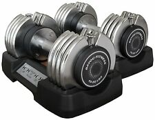 Bayou Fitness 50 lb. Adjustable Dumbbells Pair BF-0250 Total Weight 100 lbs. NEW