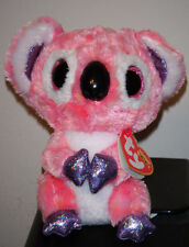 "Ty Beanie Boos ~ KACEY the 6"" Pink Koala Bear ~ 2015 Release ~ NEW IN HAND"