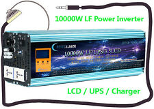 40000W Peak 10000W LF Pure Sine Wave 12V DC/110V AC 60Hz Power Inverter LCD/UPS
