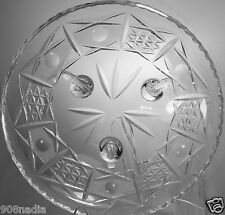 VINTAGE CUT GLASS OR CRYSTAL FOOTED ROUND FRUIT CANDY DISH/BOWL/VASE
