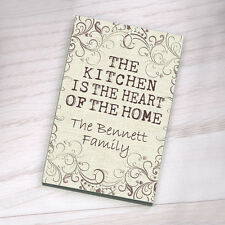 Personalised Hardboard Fridge Magnet - Kitchen is the Heart of the Home