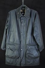 Barbour A201 Border Waxed Jacket Navy Blue (Size C38/97CM)