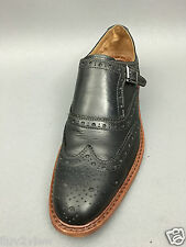 J&M Est.1850 McGavock Black Monk Strap Brogue Wingtip Dress Shoes Size 10 USA.