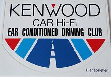 Aufkleber KENWOOD Car HiFi EAR CONDITIONED DRIVING CLUB Sticker Autocollant