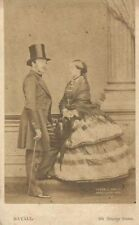 QUEEN VICTORIA AND PRINCE ALBERT. MAYALL. LONDON, 1861. CDV