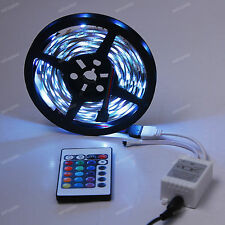 5M 5050 SMD DJ Strip lights 150 LED RGB + 24 IR Remote Car LEDs Lamp Bulb