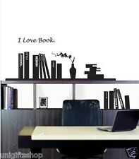 I Love Book Wall Decal Room Stickers Living Room Bedroom Study Room Decor