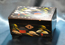 Vintage Japanese Wooden Musical Jewellery Box (1130)