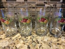 ROYAL ALBERT OLD COUNTRY ROSES WATER  GLASSES - SET OF 4