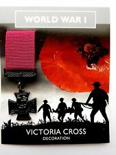Miniature World War 1 Copy Victoria Cross Decoration Medal on Information Card