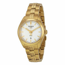 Tissot Women's PR100 Silver Dial Gold PVD Ladies Watch T1012103303100