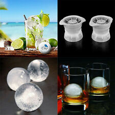 Ice Ball Maker Sphere Mold Creates Perfect 2.5 INCH Round Ice Cube Balls Set