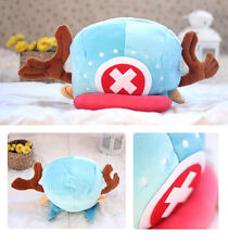 New One Piece Chopper Cap Anime Blue Plush Hat Funny Costume Cosplay Collect