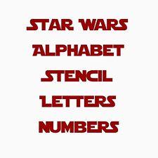 Star Wars Fuente alfabeto & Letras Plantilla Plantilla Pintura Aerógrafo de Mylar de 0.5 pulgadas