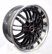 4 GWG Wheels 18 inch Black AMAYA Rims fits HONDA ACCORD 2003 - 2007