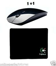 1+1 Ranz Black Color  Wireless Mouse +Mouse Pad Ultra Slim Ergonomic  2.4 GHz.