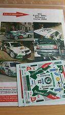 Decals 1/24 réf 953 Skoda Fabia WRC  Schwartz Tour de Corse 2004