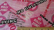 "Cool School by Kanvas ""No Bullying"" REDUCED F(Pink) - 0530 - 1 Yard"