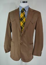 44 Long Circle S Brown Suede Ranch & Western Wear Sport Coat Jacket 2 Button USA