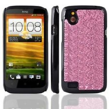 Brillo Rosa Bling Disco Duro ajustada Funda Htc Desire V T328w Stocking llenar