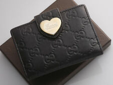 G6563 Authentic GUCCI Guccissima Heart Genuine Leather ID Pass Card Case