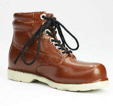 New FOR VINTAGE 12 INCH MALE FASHION DOLLS BROWN LACE UP BOOT SHOES