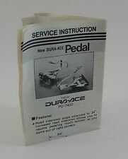 Shimano Dura-Ace Pedal Service Instruction Guide, PD-7400, New Condition