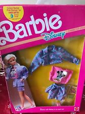 1989 Mattel Barbie Doll Disney Outfit Mickey Mouse Character Fashions NRFB NEW