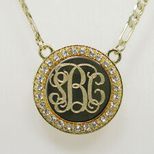 Custom 18K Gold-Plated Personalized Initial Monogram Name Necklace USA seller