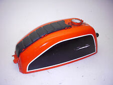 CB200 CB200T ORANGE HONDA FUEL GAS TANK WITH RUBBER PAD TOP USED KREEMED