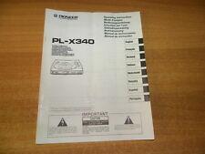 Pioneer PL-X 340 manuale d'uso originale Manual de instrucciones