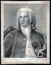 LINNÉ Carl von Portrait Lithographie um 1830 - Original!