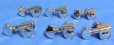 six  NEW  GROVER 18-1 CHROME MINI LEFTY  IN LINE GUITAR MACHINE HEAD TUNER